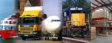 Cargo transport by air sea or road freight